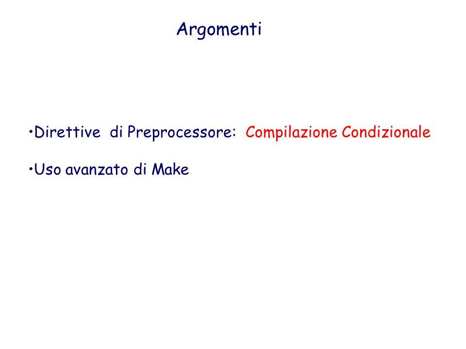 Argomenti Direttive di Preprocessore: Compilazione Condizionale
