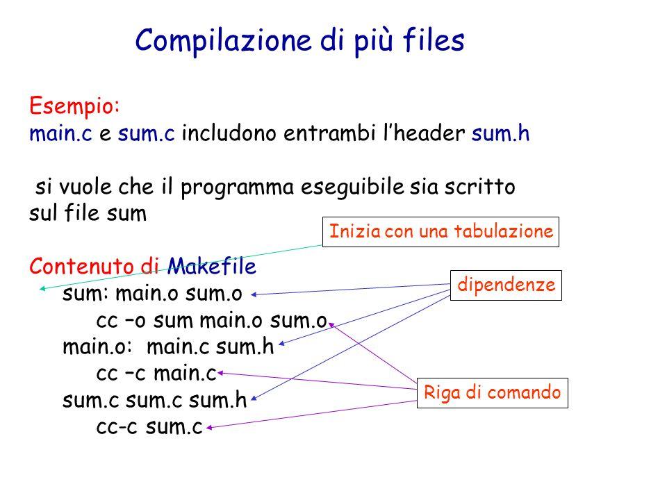 Compilazione di più files