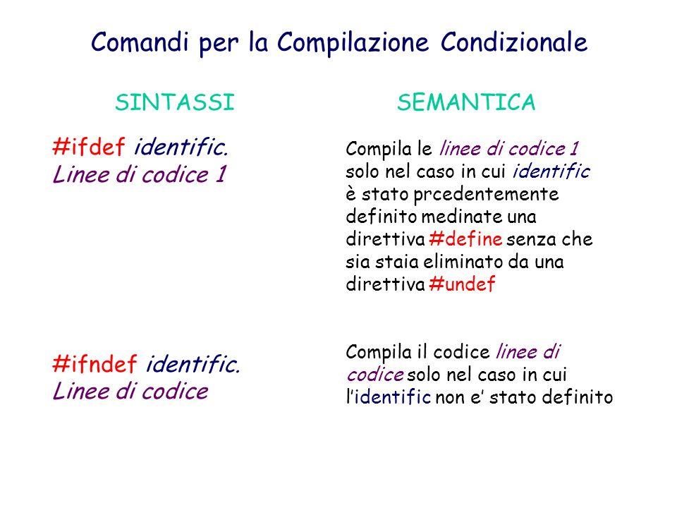 Comandi per la Compilazione Condizionale
