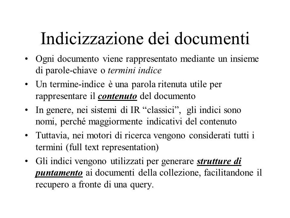 Indicizzazione dei documenti