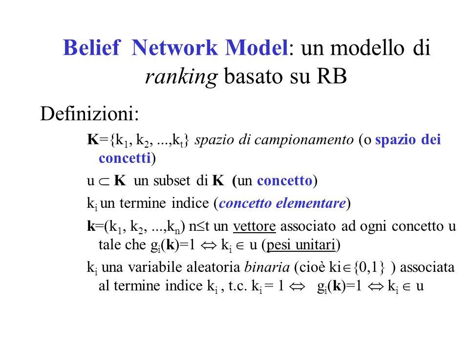 Belief Network Model: un modello di ranking basato su RB