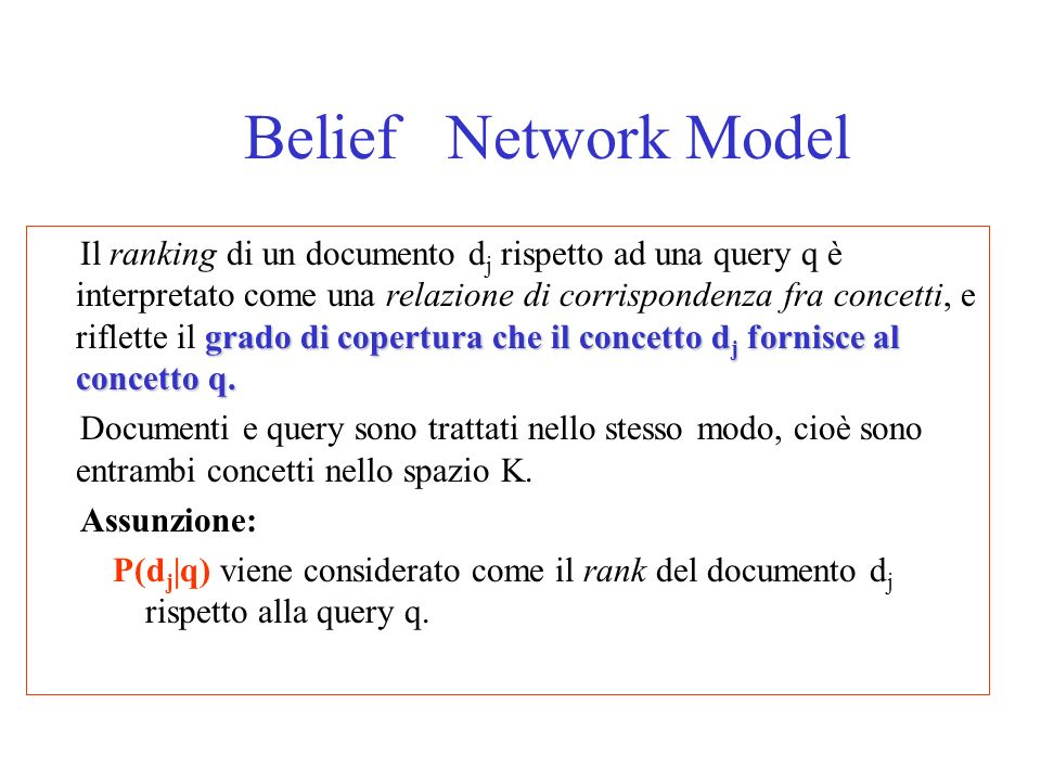 Belief Network Model