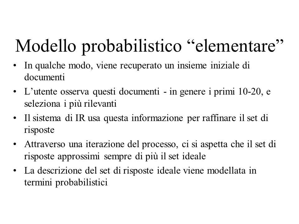 Modello probabilistico elementare