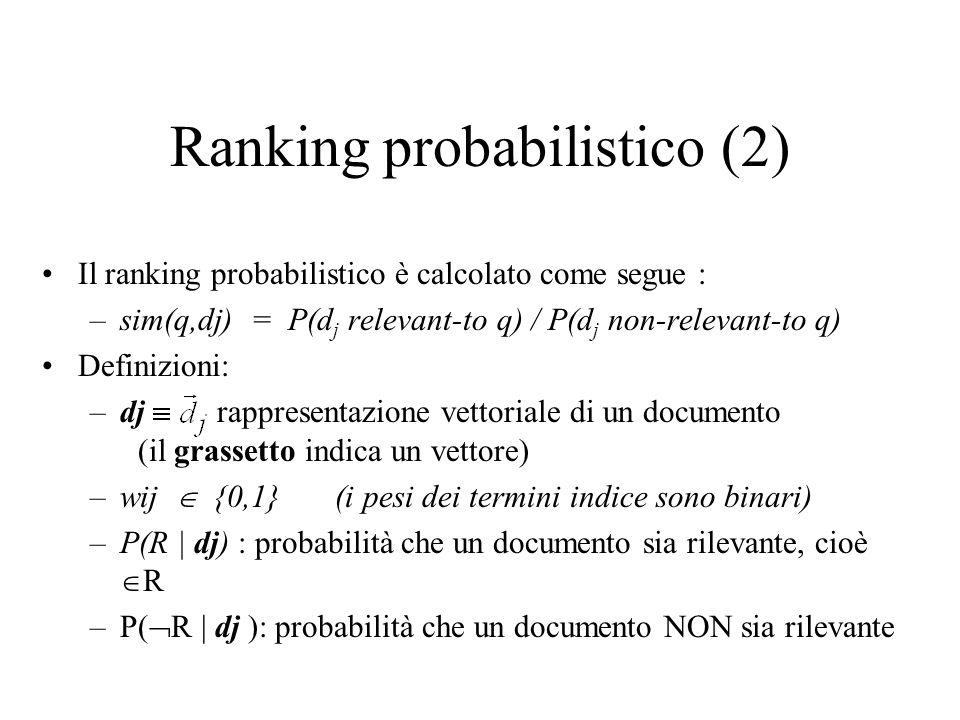 Ranking probabilistico (2)