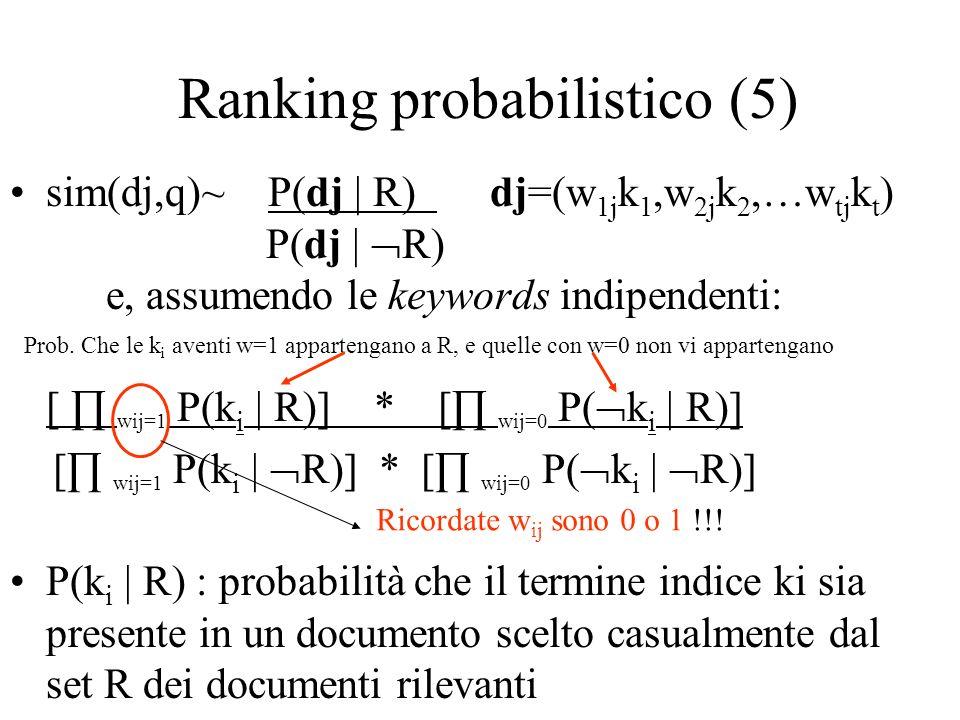Ranking probabilistico (5)