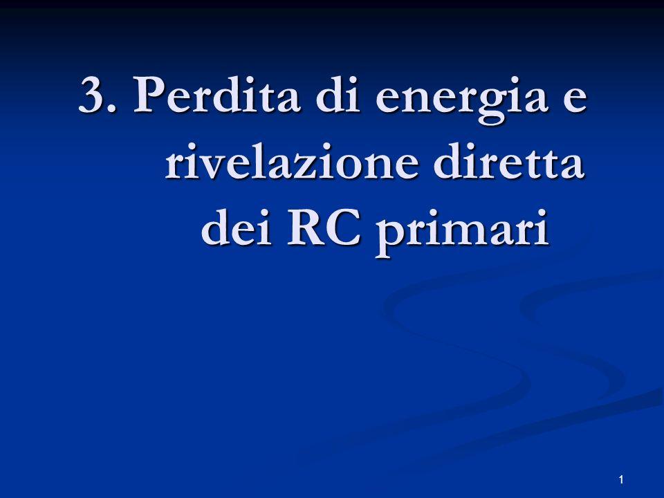 3. Perdita di energia e rivelazione diretta dei RC primari