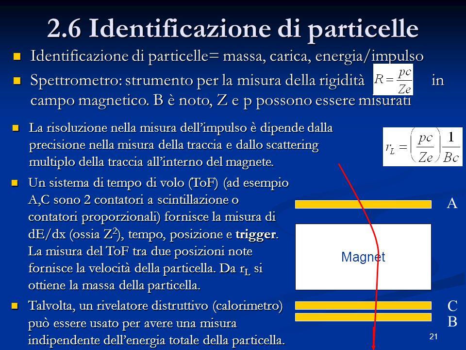 2.6 Identificazione di particelle