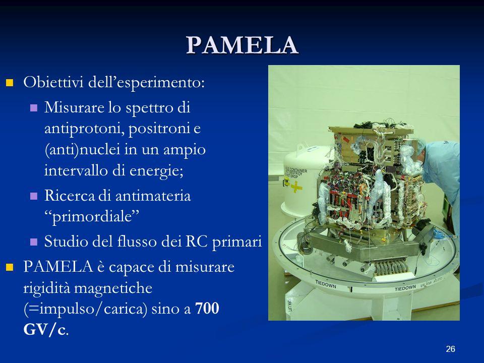 PAMELA Obiettivi dell'esperimento: