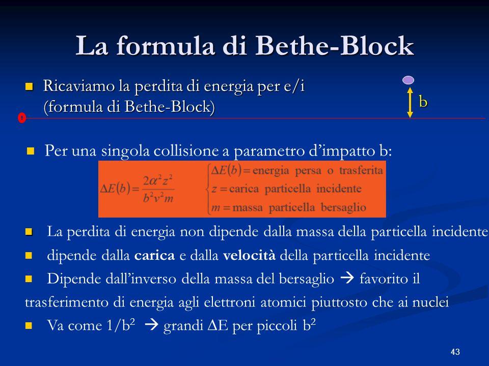 La formula di Bethe-Block