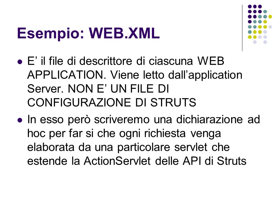 Esempio: WEB.XML