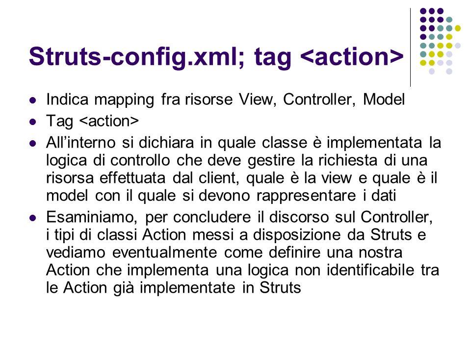 Struts-config.xml; tag <action>
