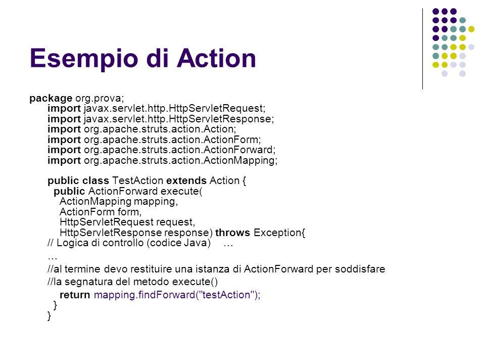 Esempio di Action