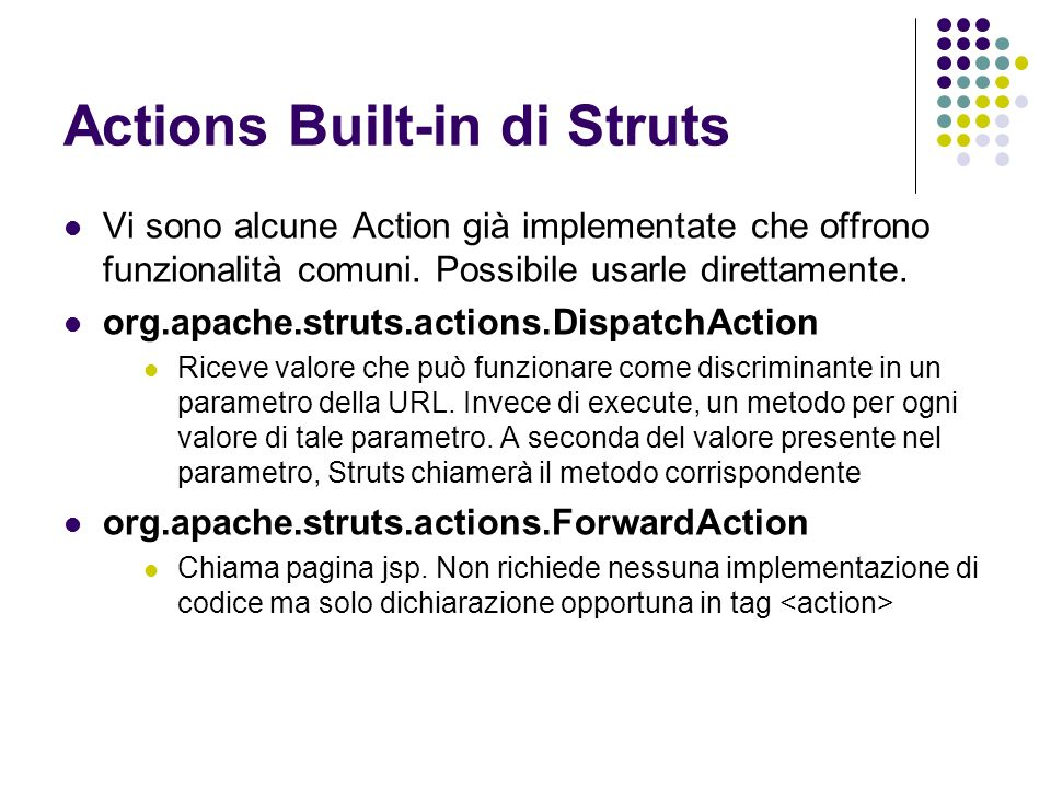 Actions Built-in di Struts