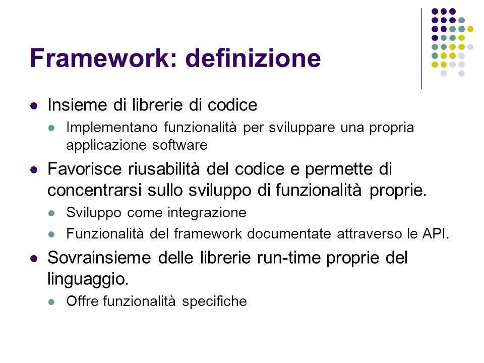 Framework: definizione