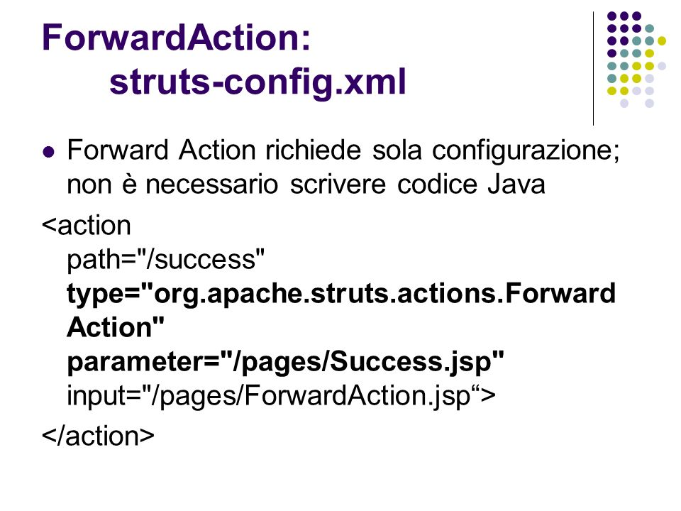 ForwardAction: struts-config.xml
