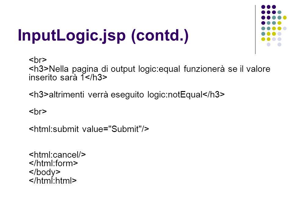 InputLogic.jsp (contd.)