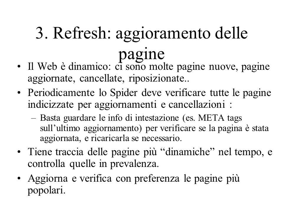 3. Refresh: aggioramento delle pagine
