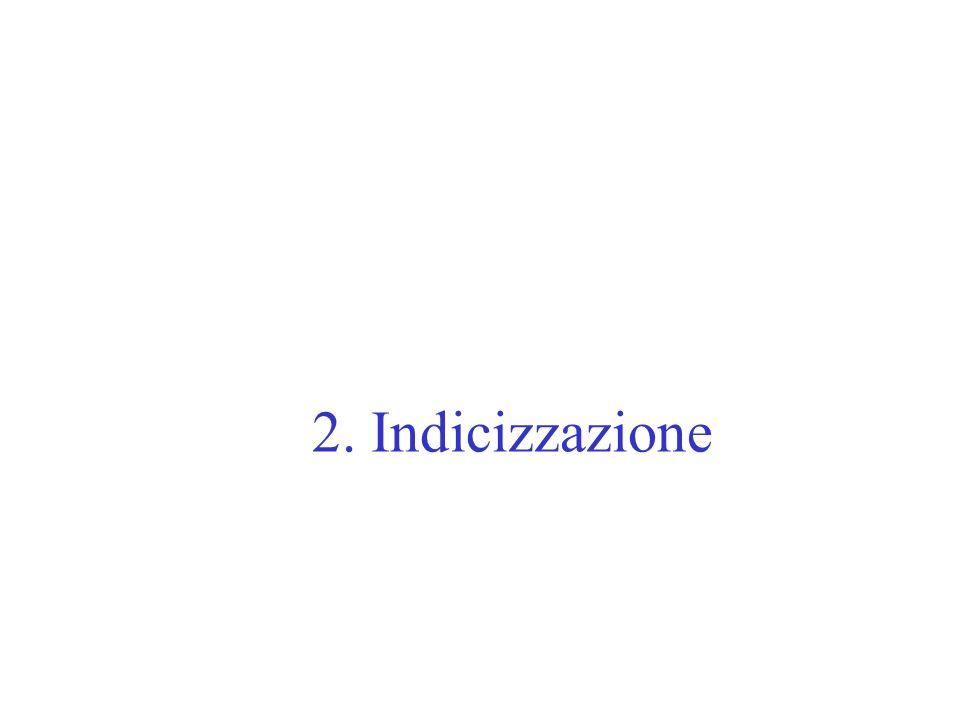 2. Indicizzazione