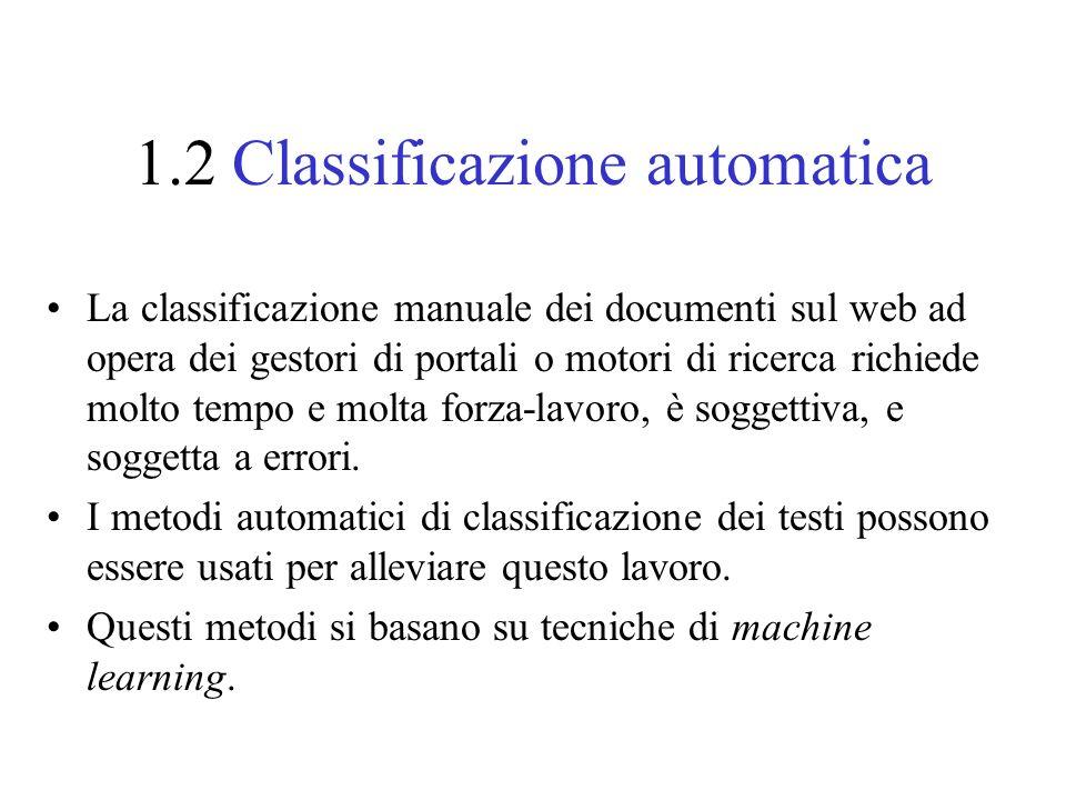 1.2 Classificazione automatica