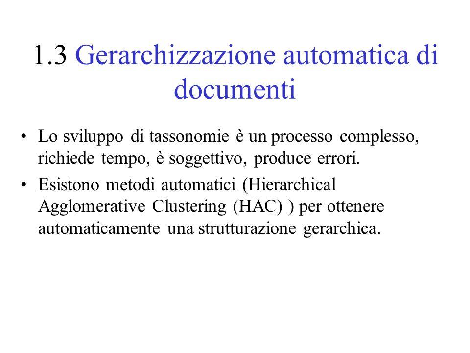 1.3 Gerarchizzazione automatica di documenti