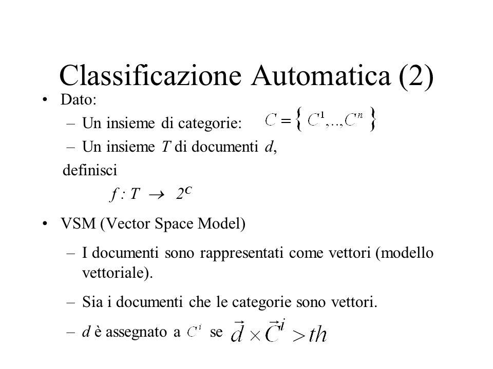 Classificazione Automatica (2)