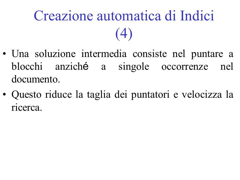 Creazione automatica di Indici (4)
