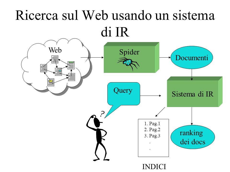 Ricerca sul Web usando un sistema di IR