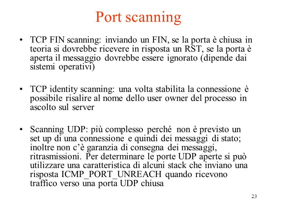 Port scanning