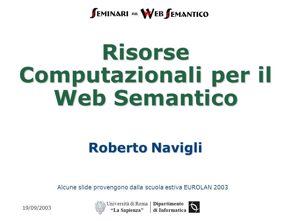 Risorse Computazionali per il Web Semantico