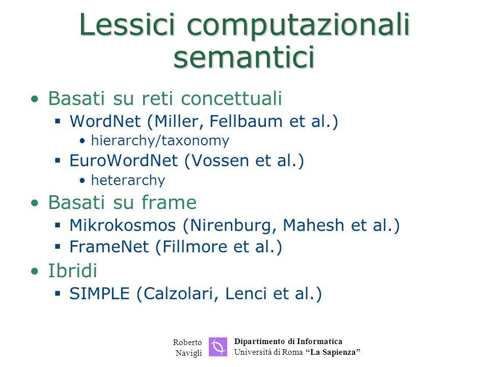 Lessici computazionali semantici