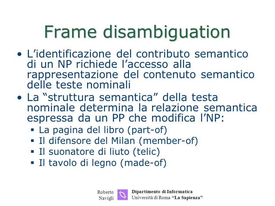 Frame disambiguation