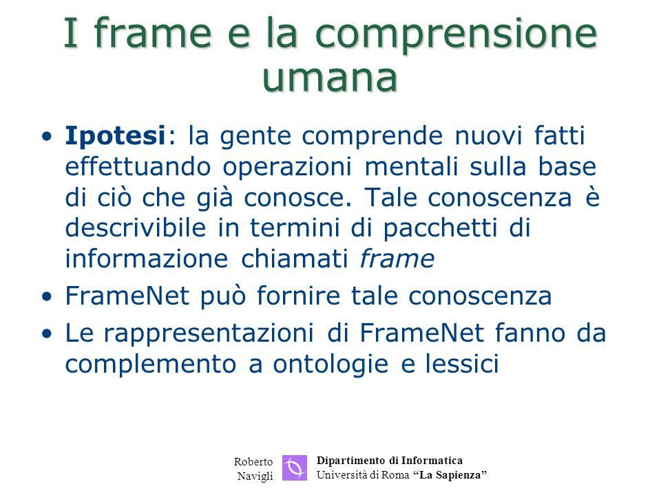 I frame e la comprensione umana