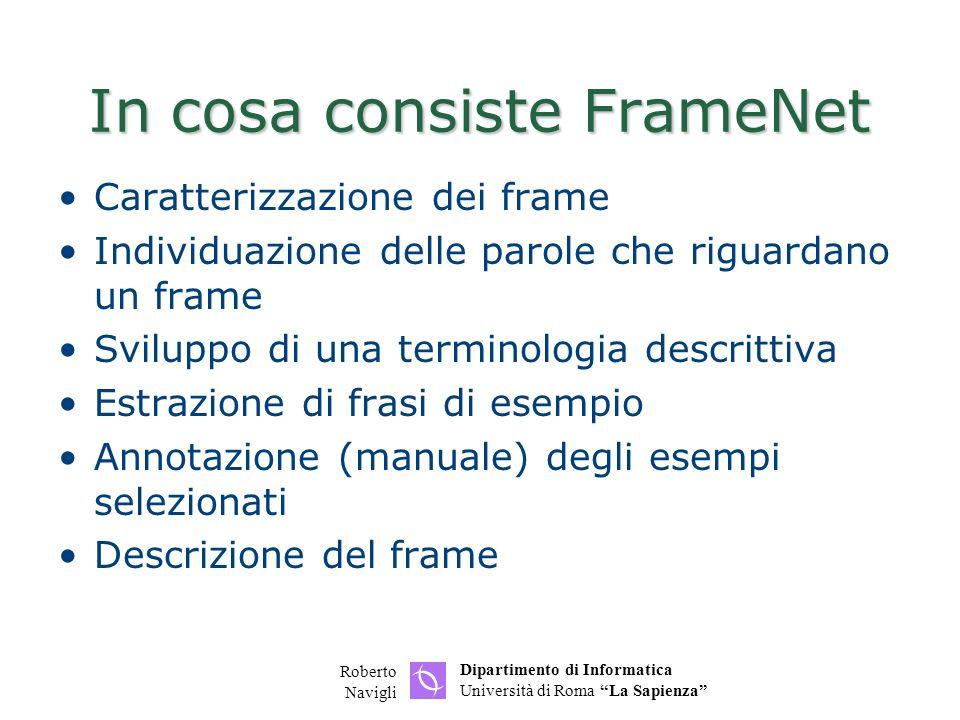 In cosa consiste FrameNet
