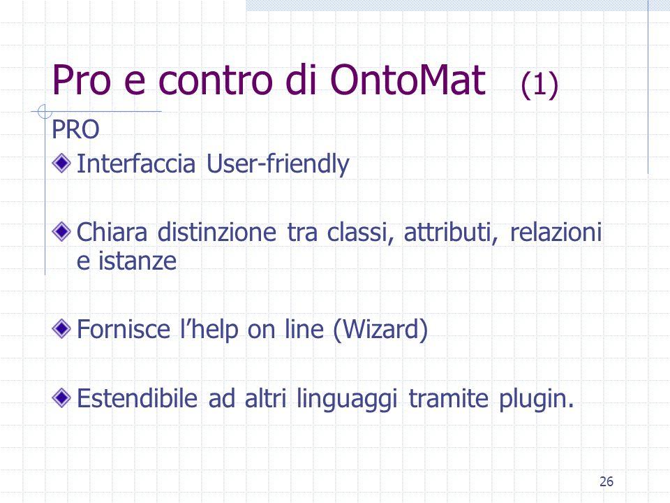 Pro e contro di OntoMat (1)