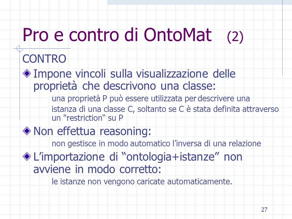 Pro e contro di OntoMat (2)