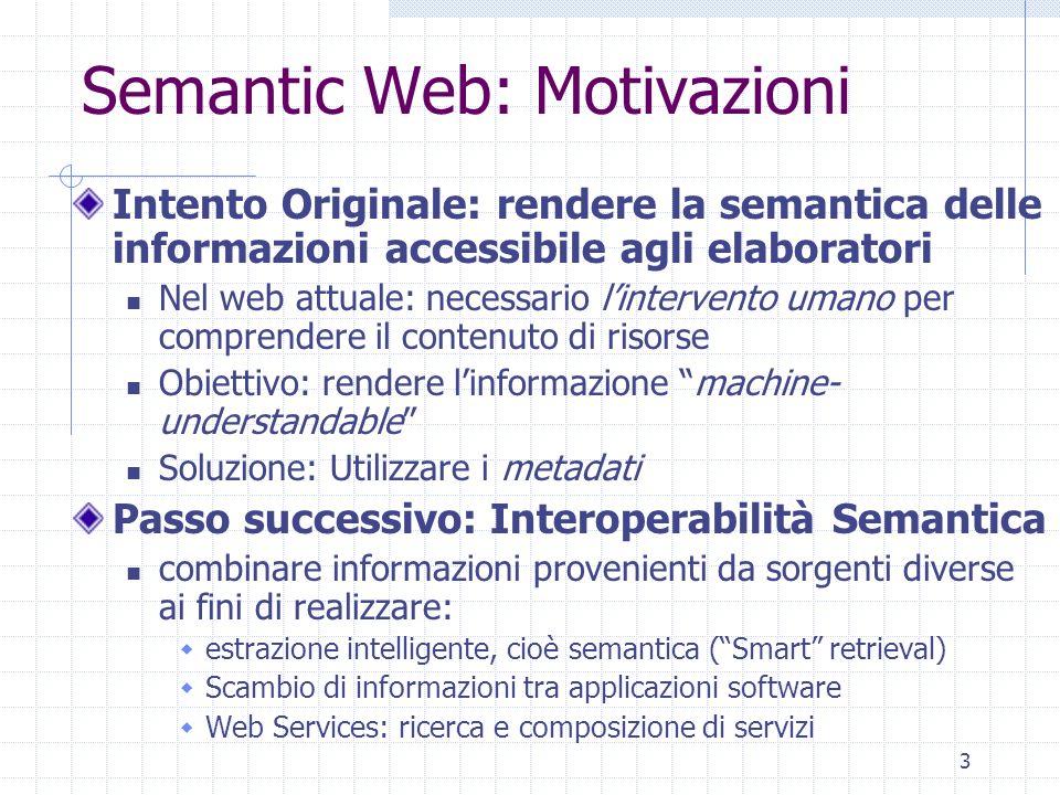 Semantic Web: Motivazioni