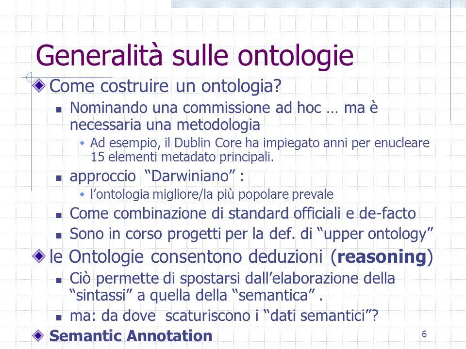 Generalità sulle ontologie