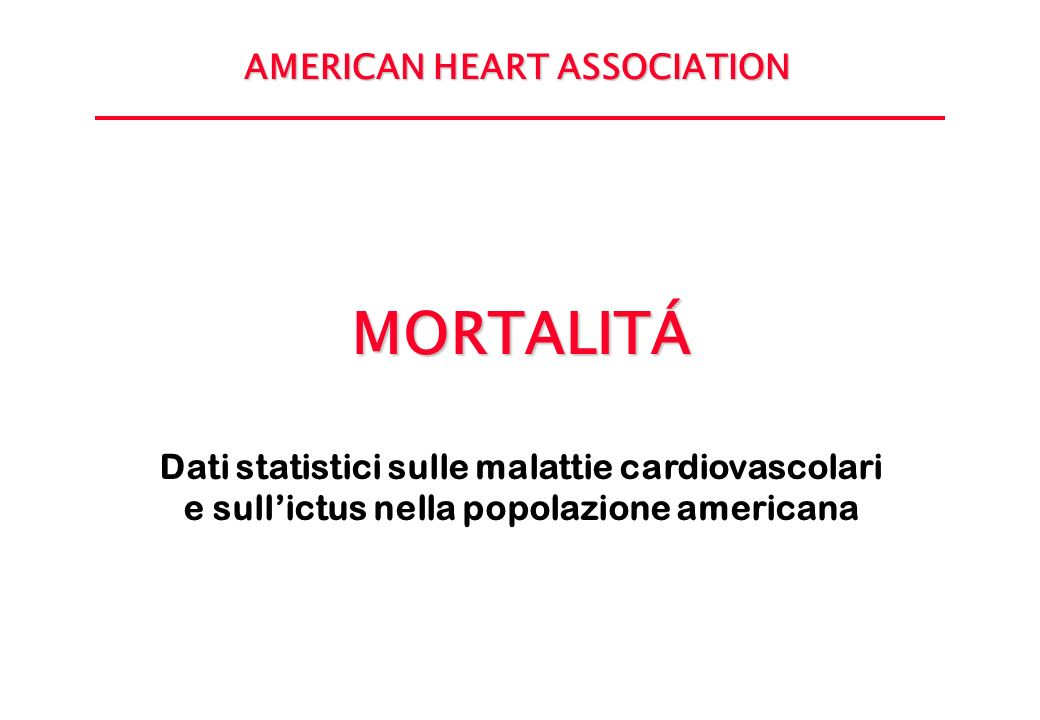 MORTALITÁ AMERICAN HEART ASSOCIATION