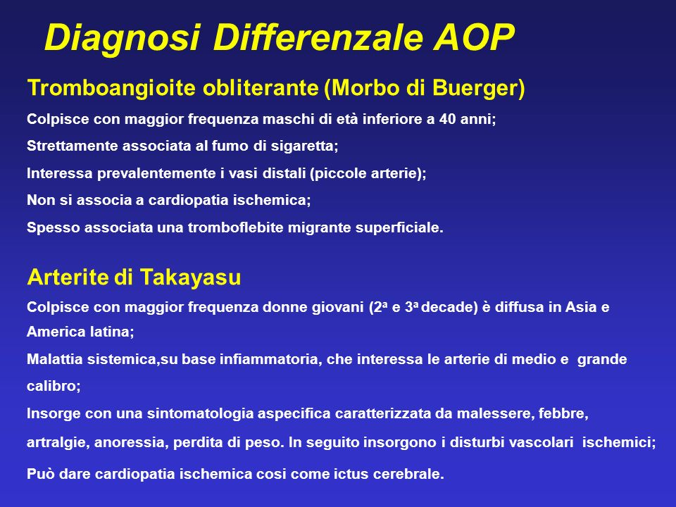 Diagnosi Differenzale AOP