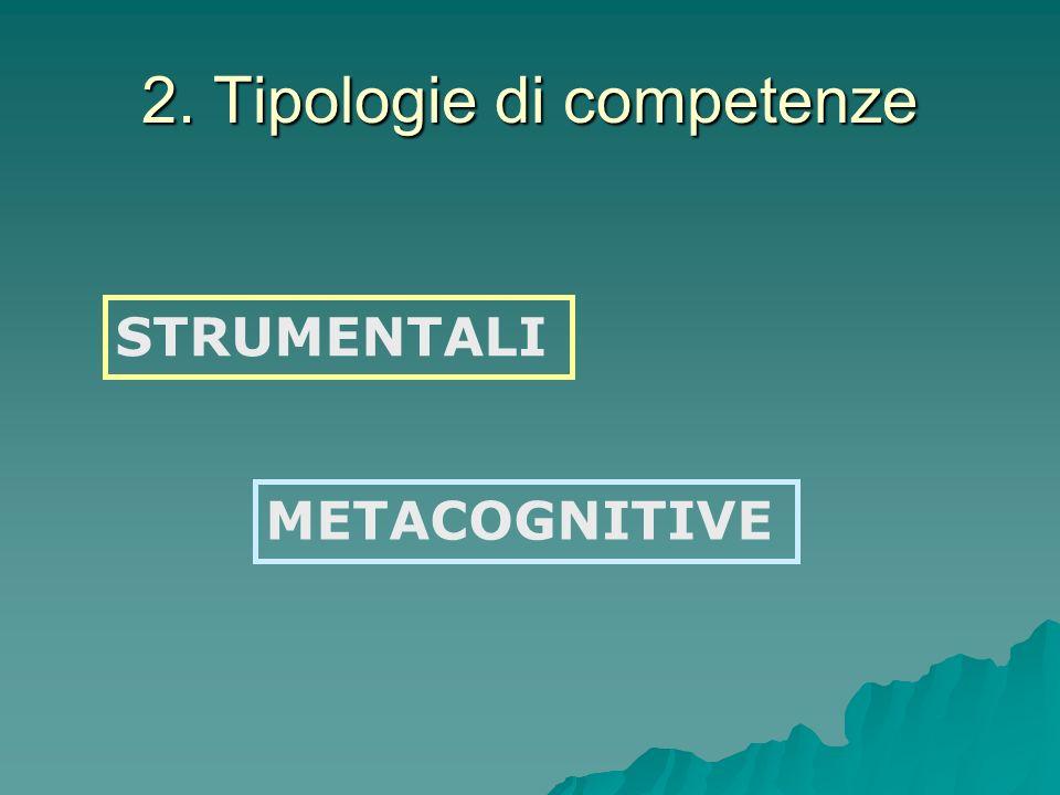 2. Tipologie di competenze