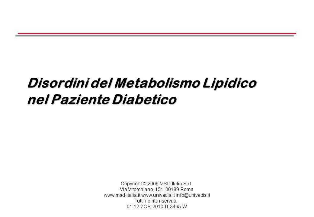 Disordini del Metabolismo Lipidico nel Paziente Diabetico