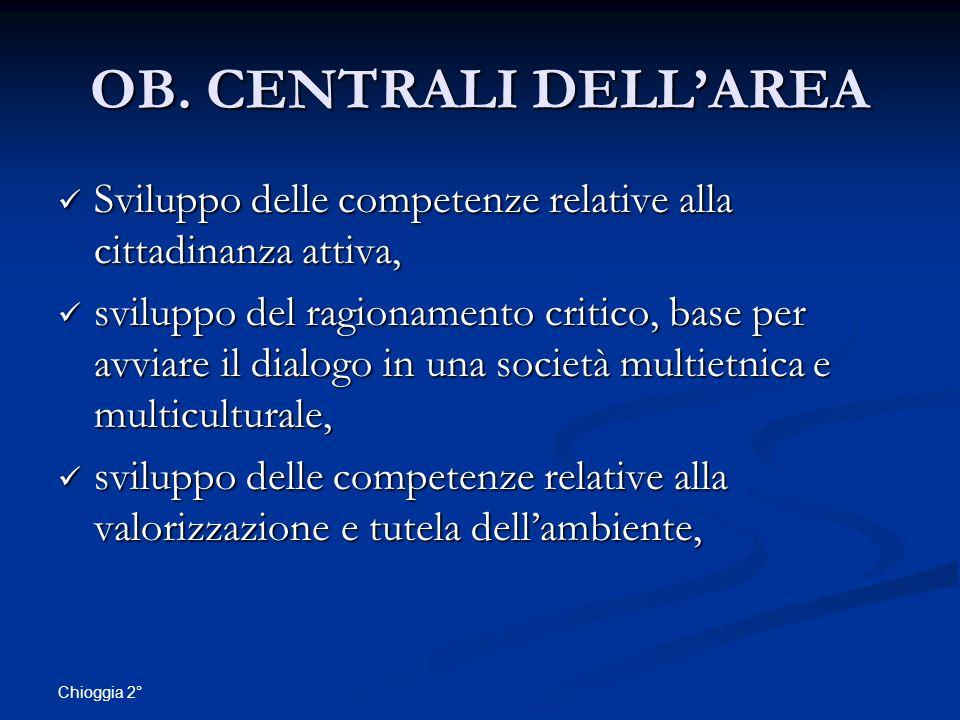 OB. CENTRALI DELL'AREA Sviluppo delle competenze relative alla cittadinanza attiva,