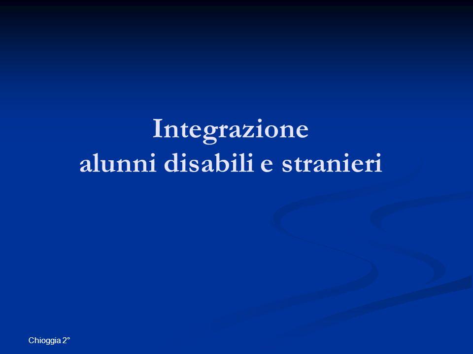 Integrazione alunni disabili e stranieri