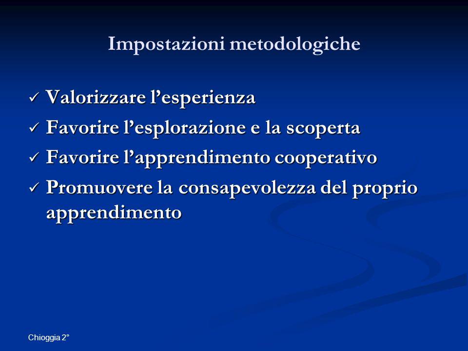 Impostazioni metodologiche
