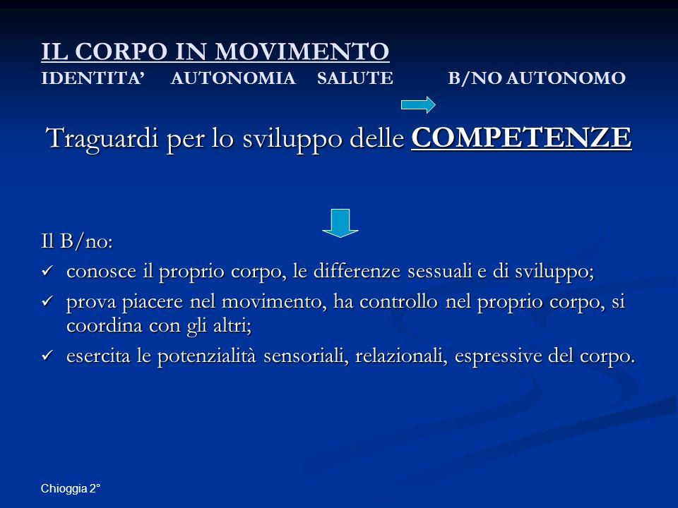 IL CORPO IN MOVIMENTO IDENTITA' AUTONOMIA SALUTE B/NO AUTONOMO
