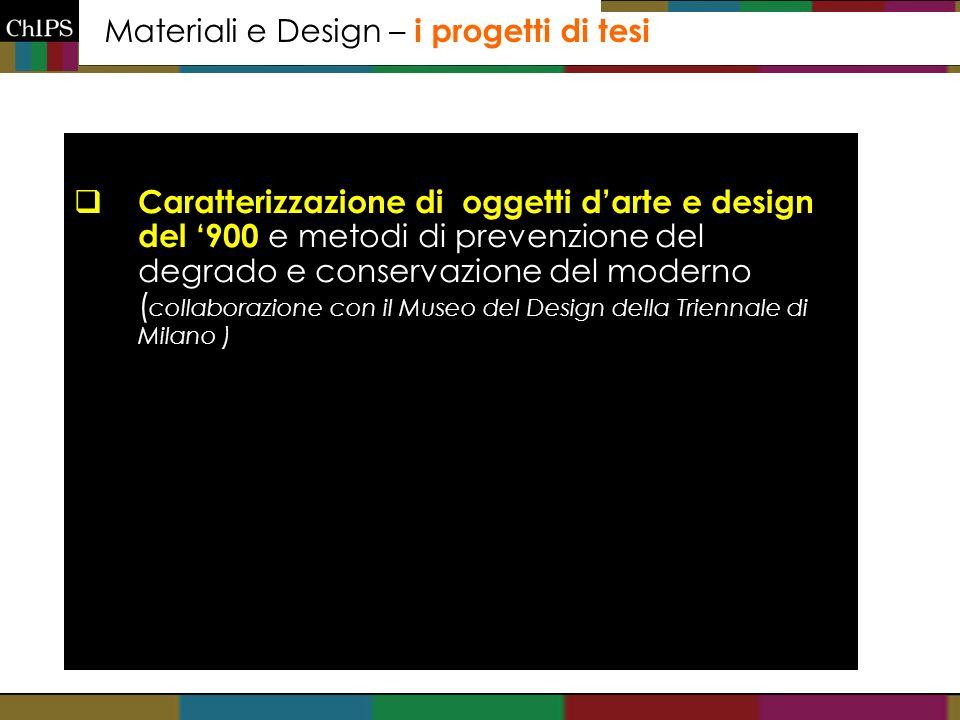 Materiali e Design – i progetti di tesi