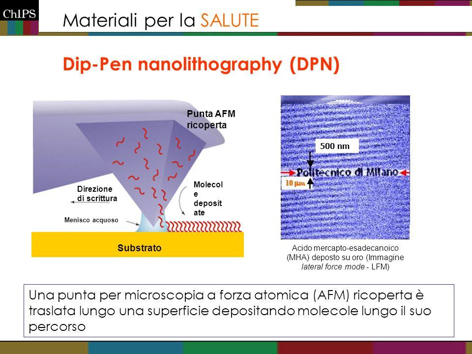 Materiali per la SALUTE Dip-Pen nanolithography (DPN)