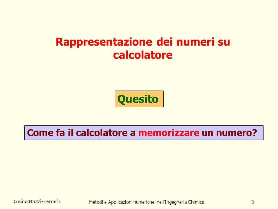 Rappresentazione dei numeri su calcolatore