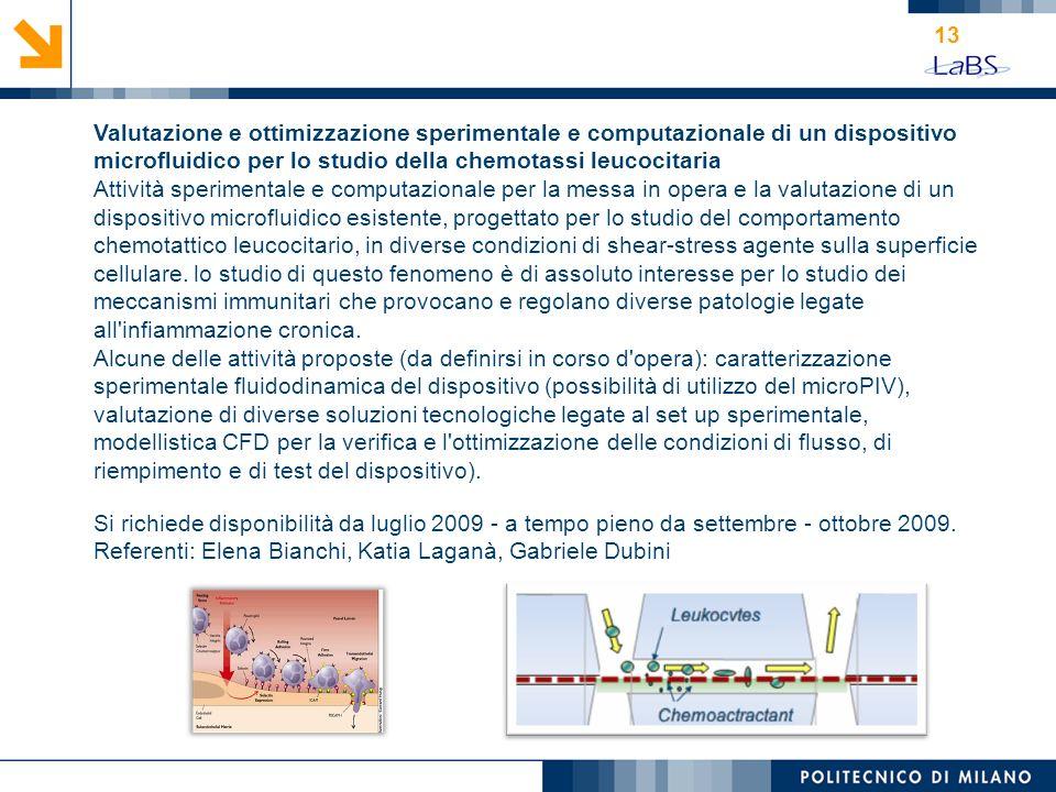 Valutazione e ottimizzazione sperimentale e computazionale di un dispositivo microfluidico per lo studio della chemotassi leucocitaria