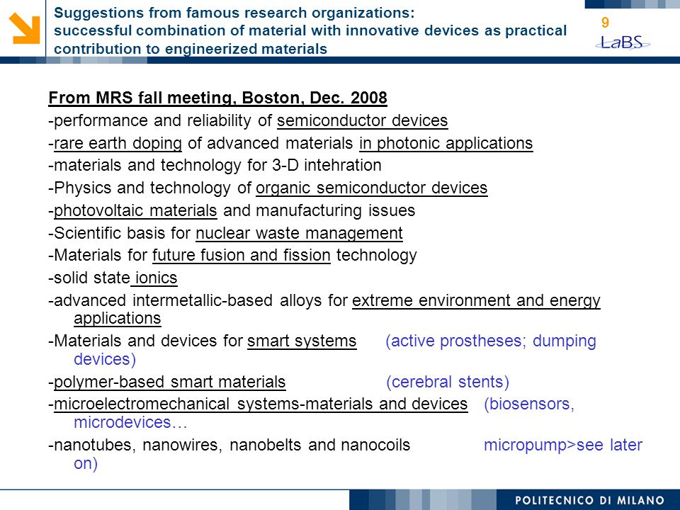 From MRS fall meeting, Boston, Dec. 2008